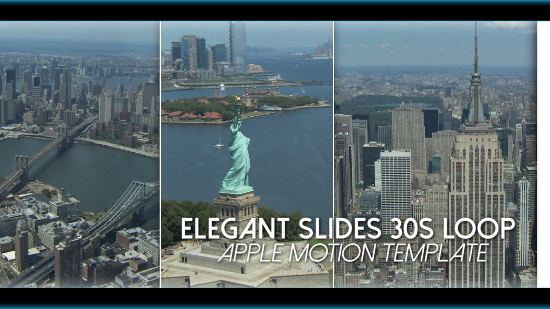 Elegant Slides 30s Loop Final Cut Pro X Template