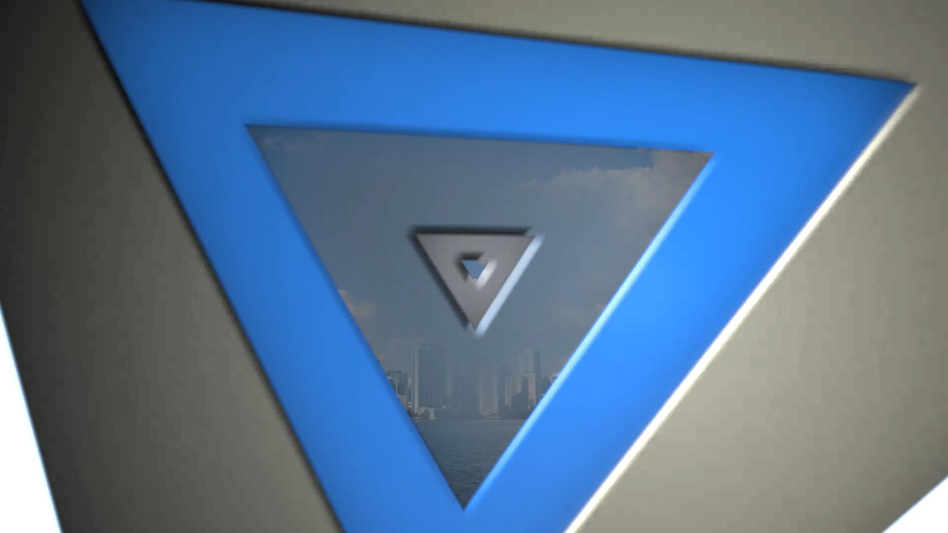 Triangles Logo Intro Final Cut Pro X Template