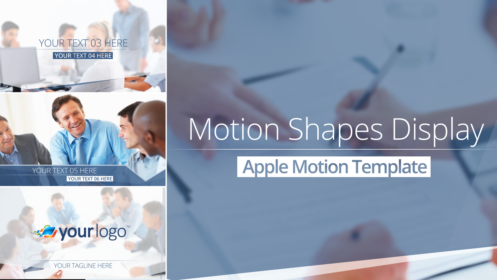 Motion Shapes Display Final Cut Pro X Template