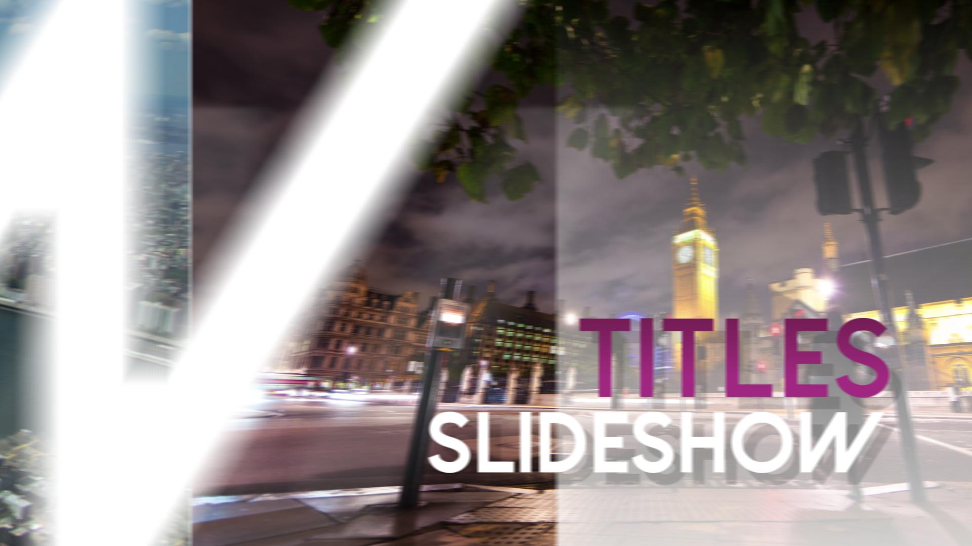Titles Slideshow Final Cut Pro X Template
