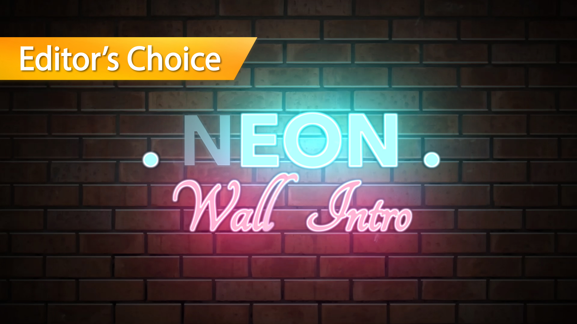 Neon Wall Title Final Cut Pro X Template