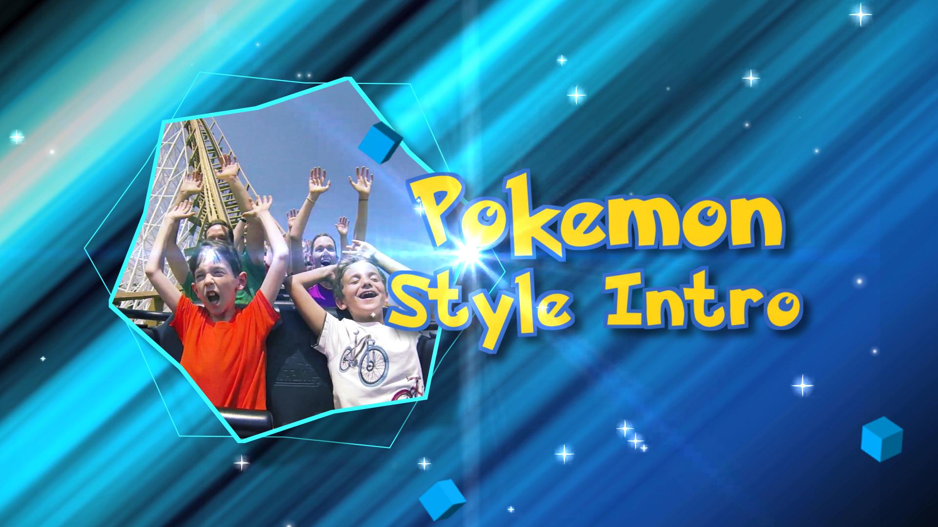 Pokemon Style Intro Final Cut Pro X Template