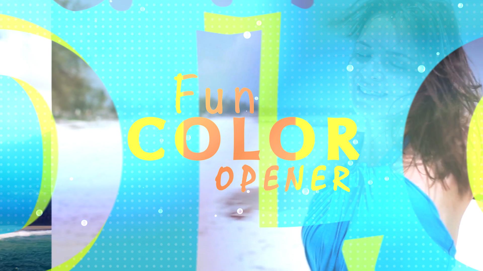 Fun Colors Opener Final Cut Pro X Template